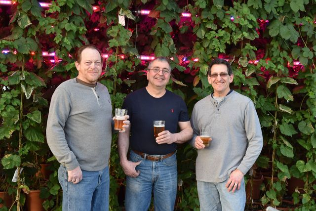 Tim Parkhurst (left), John Barone (center), and Paul Richer (right); Founders of Hot House Brewing at Barone Gardens