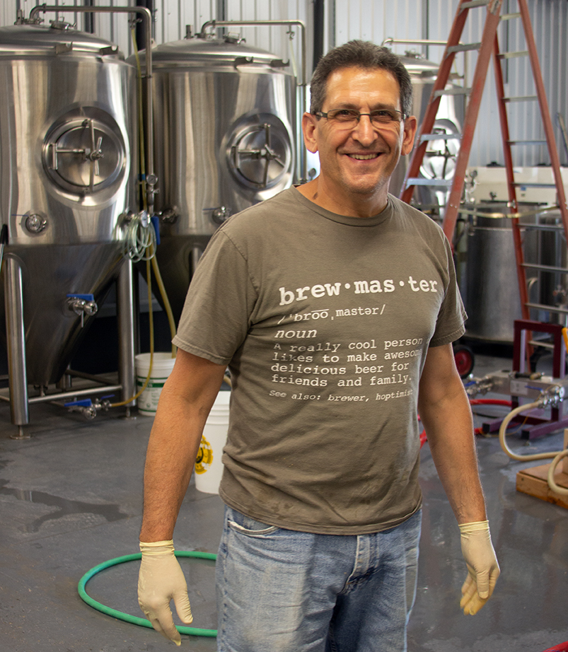 Brewmaster Paul Richer in the Brewery