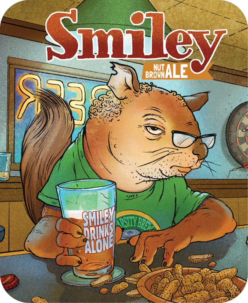 Smiley Nut Brown Ale Topper